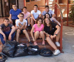 Recogida y clasificación de residuos por el alumnado