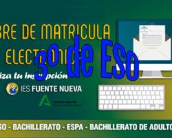 Matriculación alumnado 3º ESO