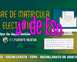 Matriculación alumnado 4º ESO