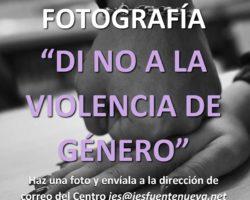 """II Concurso de Fotografía """"Di no a la violencia de Género"""""""