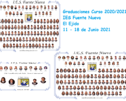 Graduaciones de 4º ESO, 2º Bachillerato y 2º CFGS Comercio Internacional Curso 2020/21